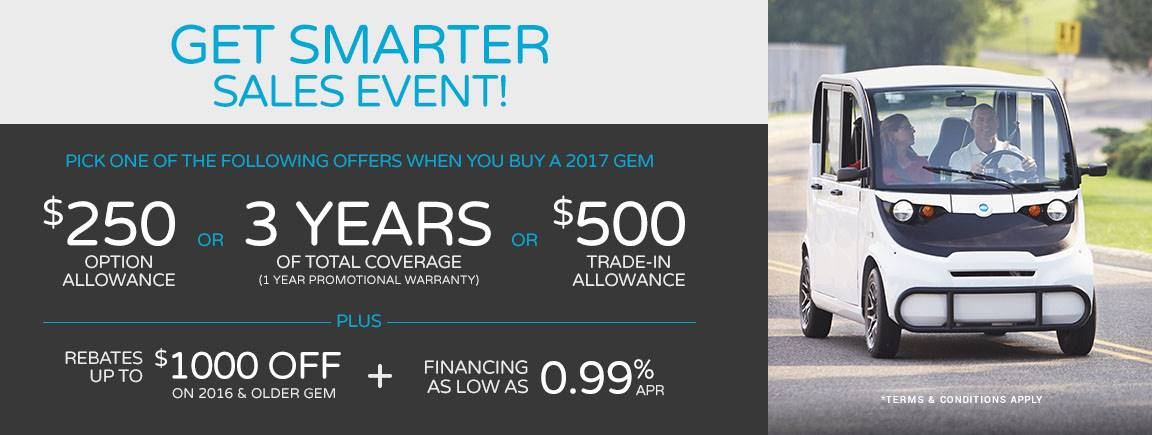 GEM - Get Smart Sales Event