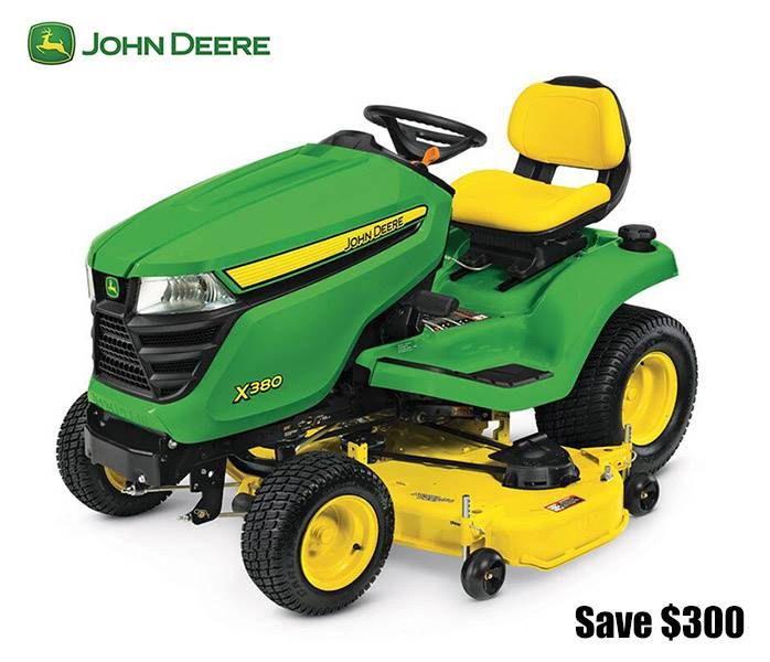 John Deere - Save $300 on X300 Select Series