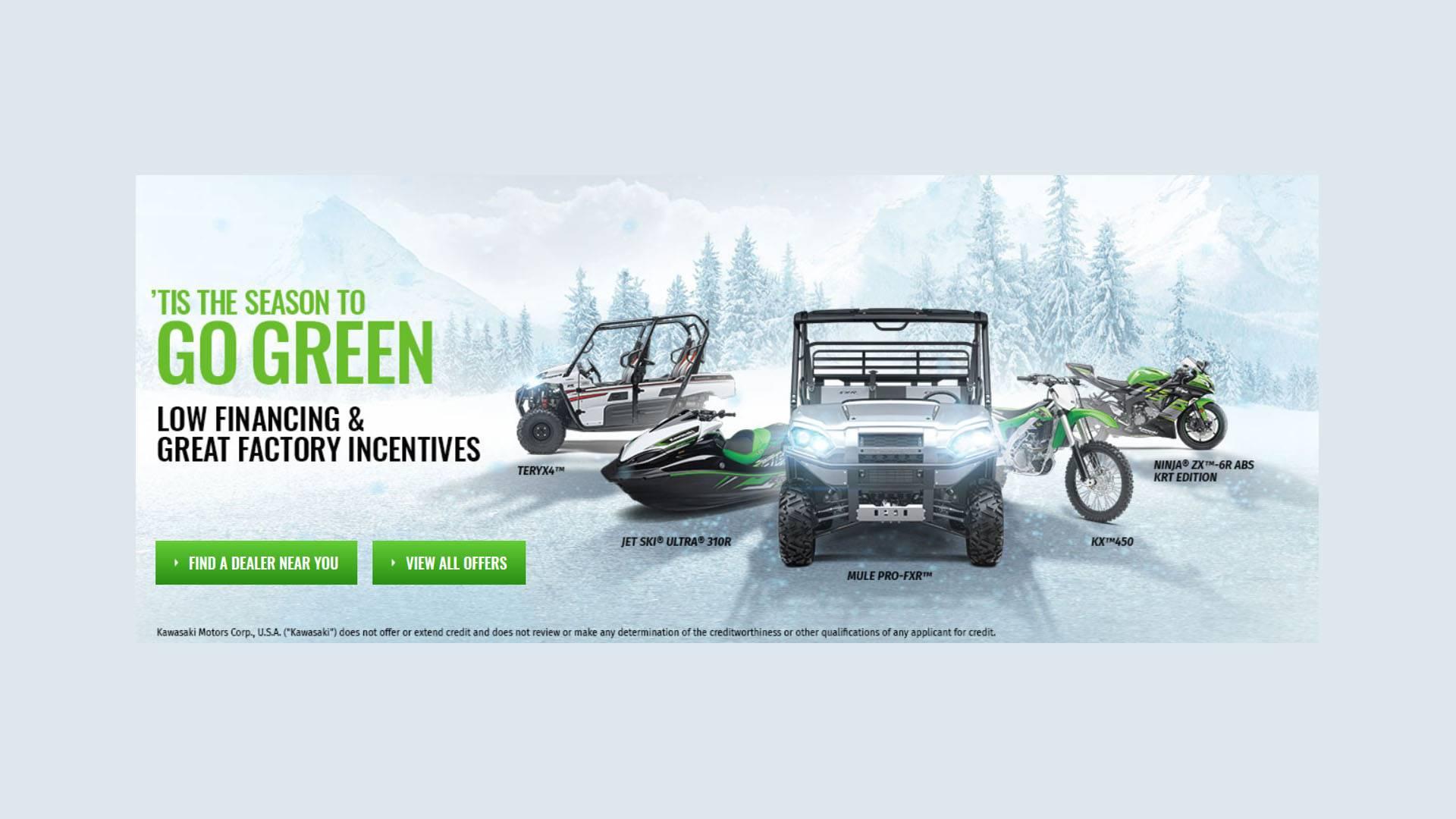 Kawasaki - 'Tis the Season to Go Green Sales Event