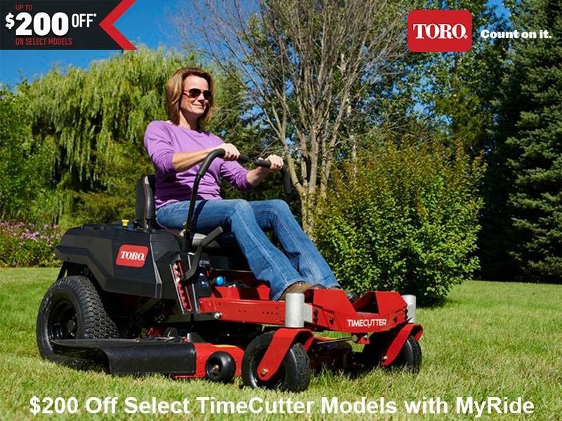 Toro - $200 Off Select TimeCutter Models with MyRide