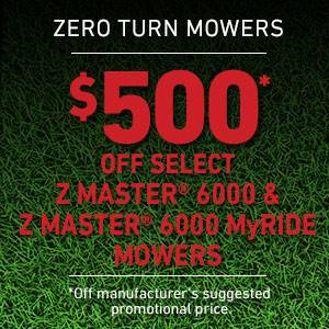 Toro - $500 USD Off Select Z Master 6000 Series and Z Master 6000 Series MyRIDE Mowers