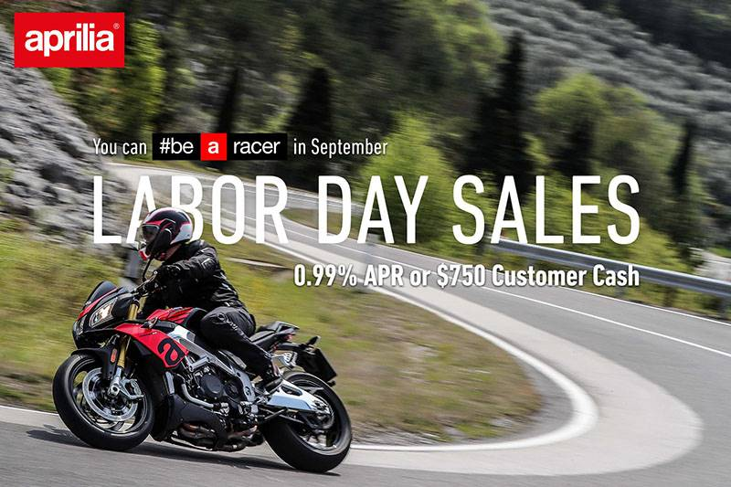 "Aprillia - ""Labor Day Sales"" 2019"