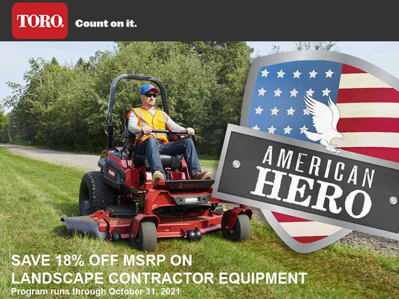 Toro - Save 18% Off MSRP On Landscape Contractor Equipment