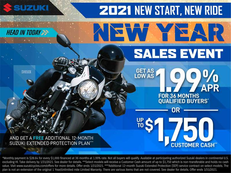 Suzuki Motor of America Inc. Suzuki - New Year Sales Event
