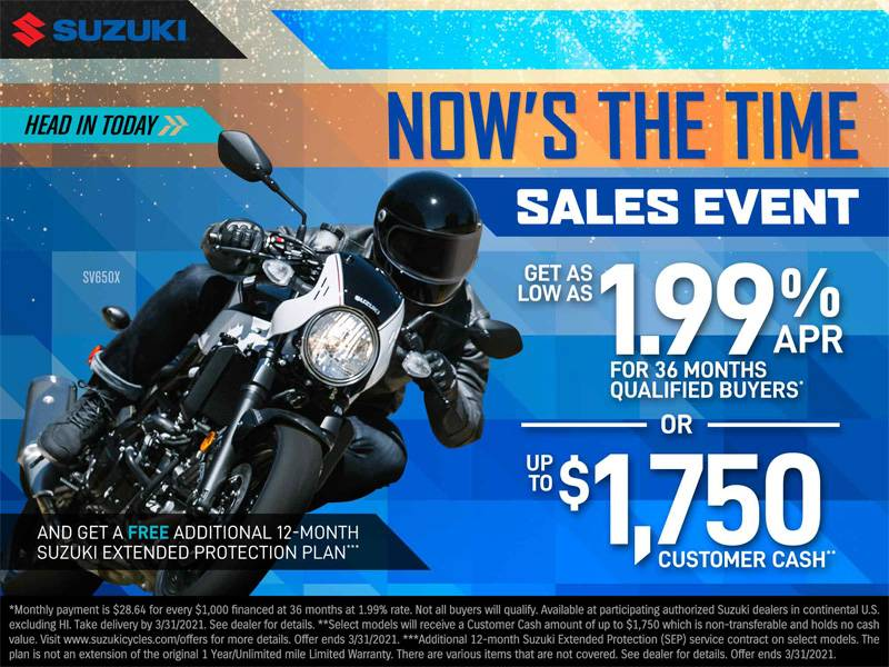 Suzuki Motor of America Inc. Suzuki - Now's The Time Sales Event