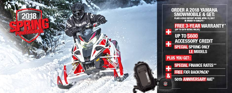 Yamaha - Spring Power Surge on 2018 Models - Current Offers & Factory Financing