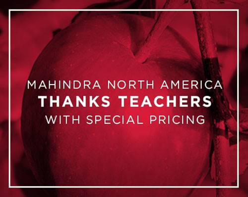 Mahindra Pride Rebate - Teacher Appreciation Program