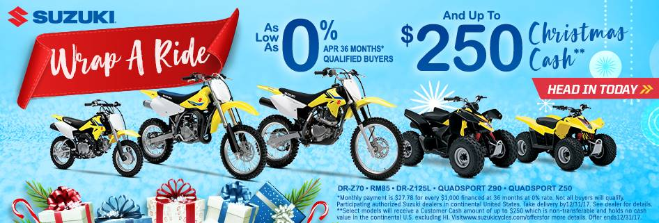 Suzuki Motor of America Inc. Suzuki Winter Suzukifest for Motocross and Offroad Motorcycles