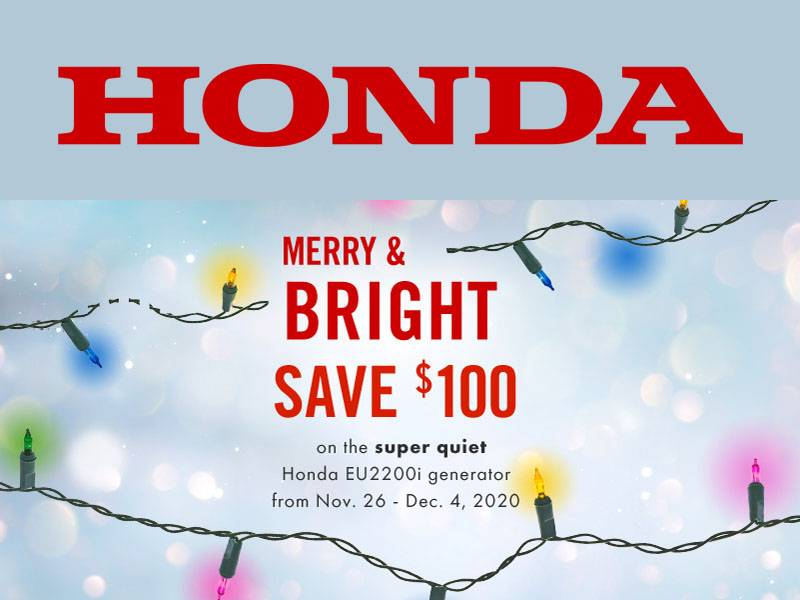 Honda Power Equipment - Merry & Bright Save $100