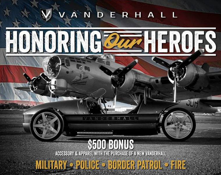 Vanderhall Motor Works - Honoring Our Heroes