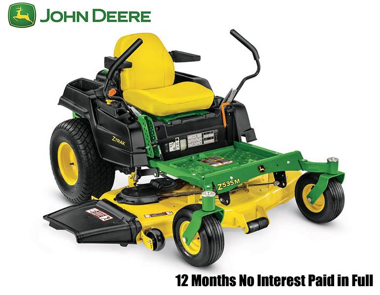 John Deere - 12 Months No Interest Paid in Full on Z500 Series