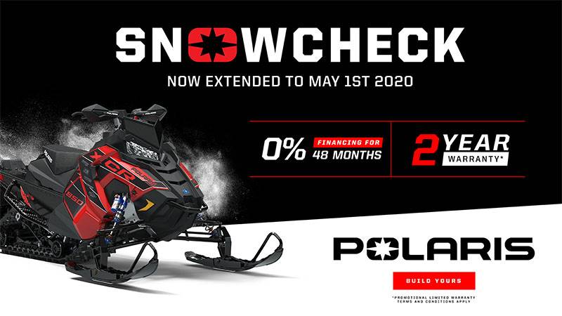 Polaris - Snowcheck 4 Year Warranty or 0% Financing for 12 Months