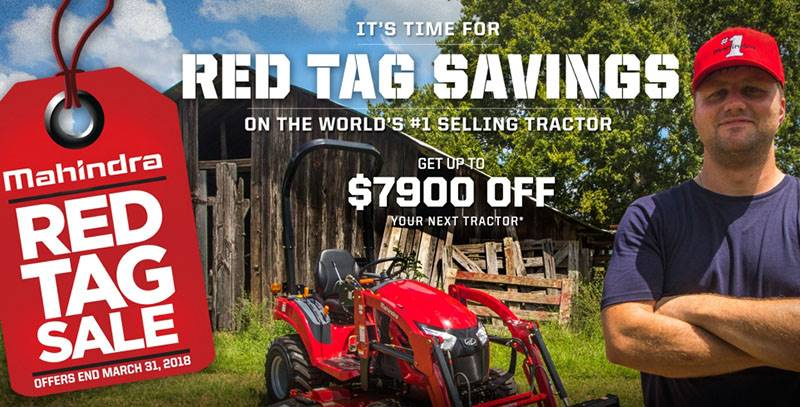 Mahindra - Red Tag Sale on Tractors