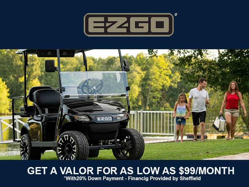 E-Z-GO - Get A Valor For As Low As $99 / Month