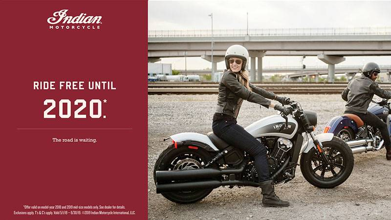 Indian - Promotioal Financing - 2018 and 2019 Scout Family and Thunder Stroke 111 Models
