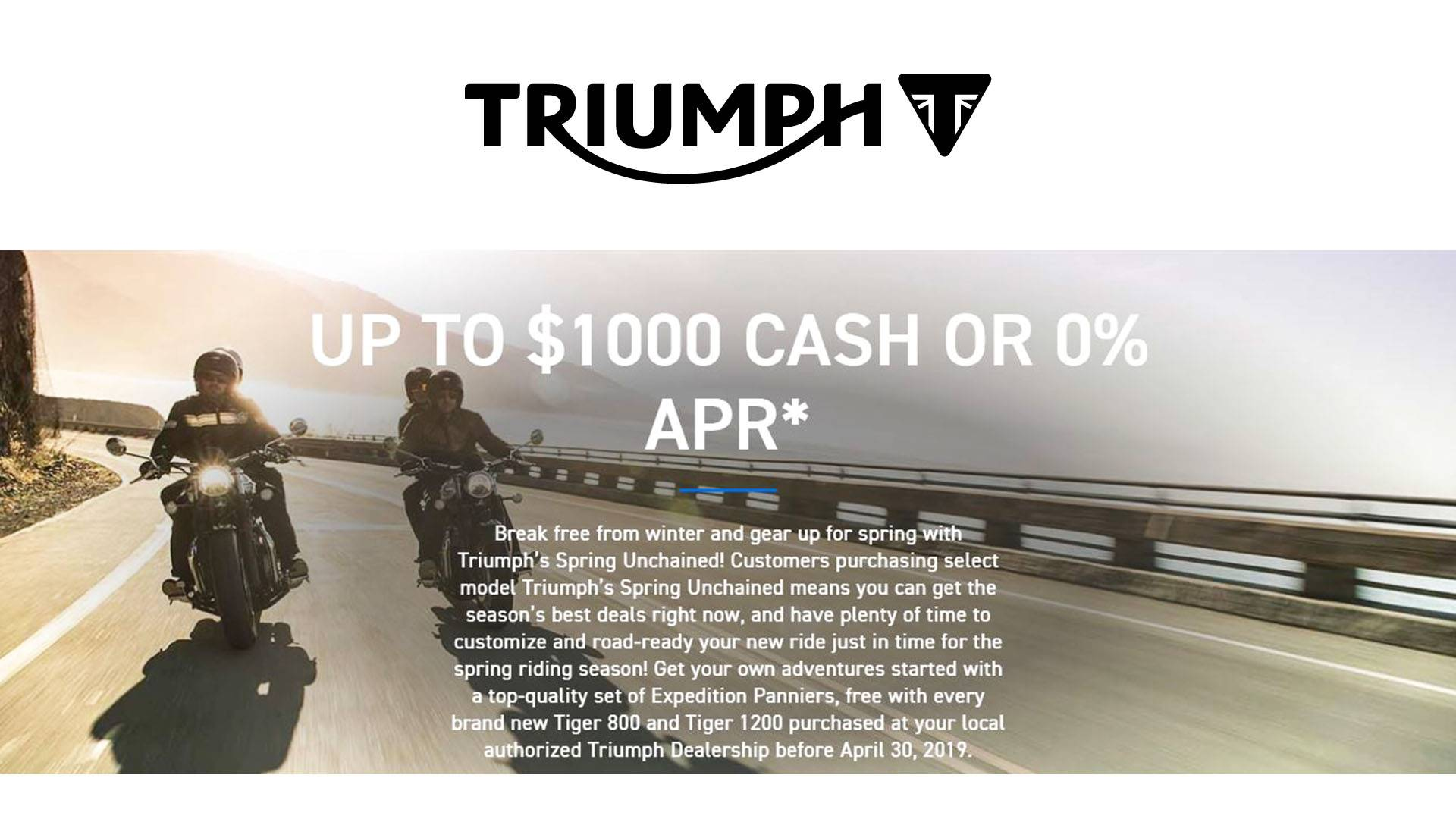 Triumph - Spring Unchained!