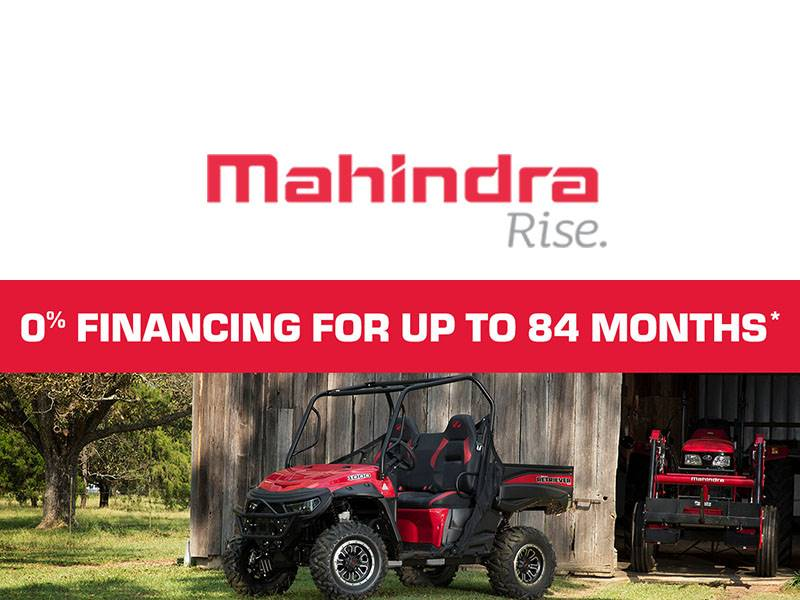 Mahindra - 0% Financing For Up To 84 Months*