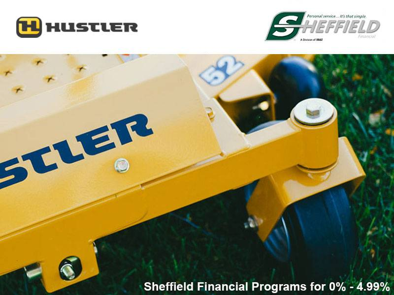 Hustler Turf Equipment - Sheffield Financial Programs for 0% - 4.99%
