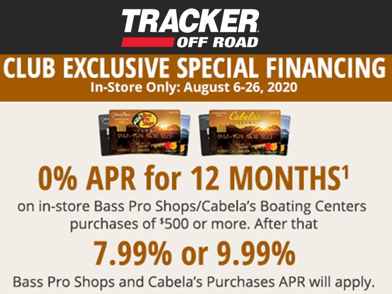 Tracker Off Road - Club Exclusive Special Financing