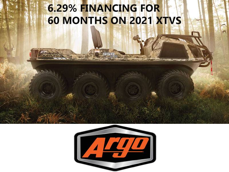 Argo - 6.29% Financing for 60 Months on 2021 XTVs