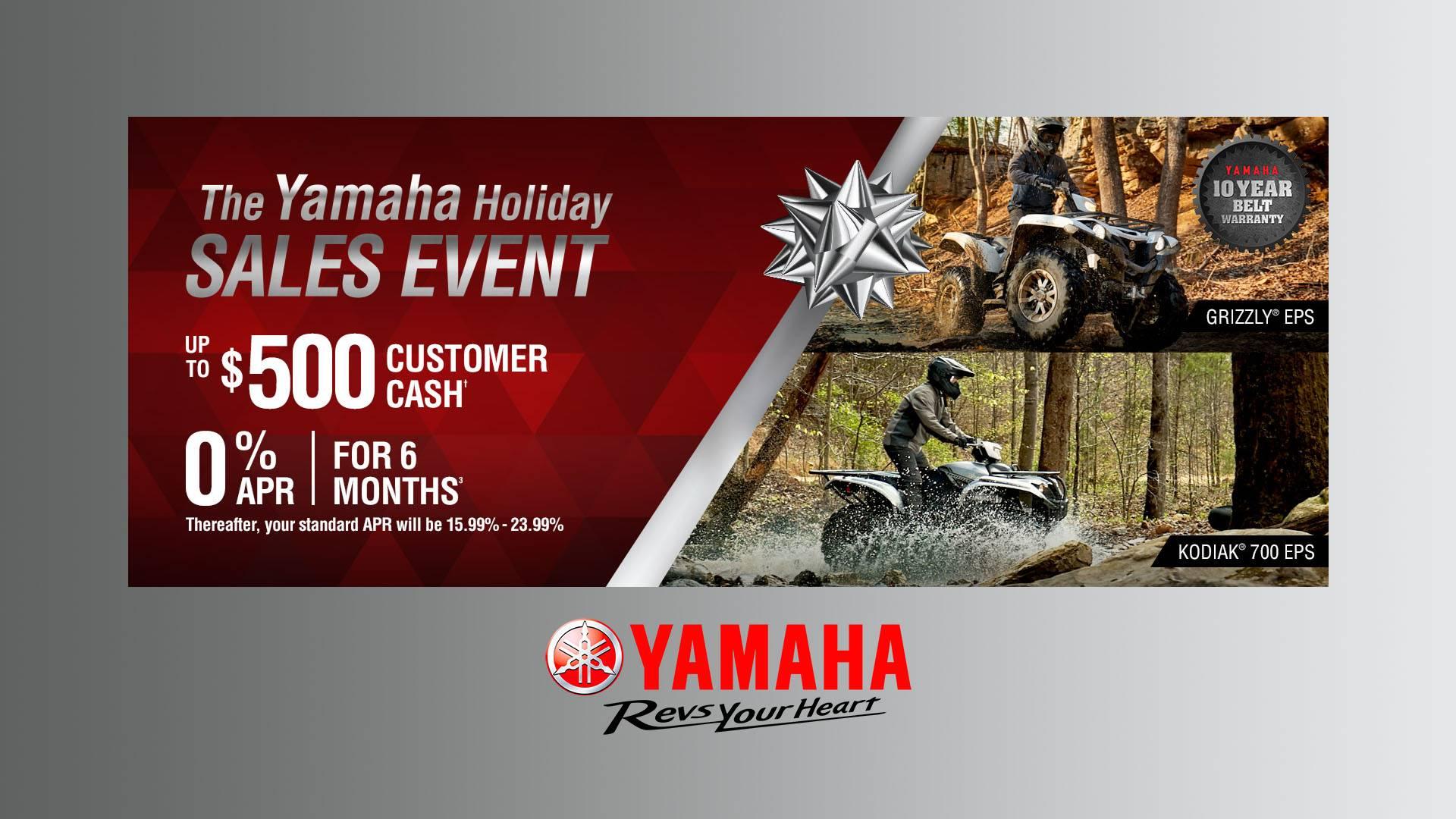 Yamaha - Holiday Sales Event - Utility ATV