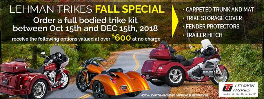 LEHMAN TRIKES / HARLEY-DAVIDSON - FALL SPECIAL