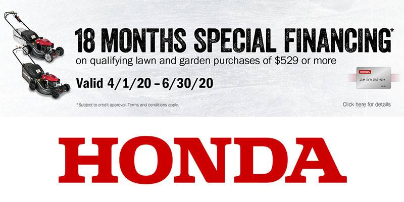 Honda Power Equipment - 18 Months Special Financing