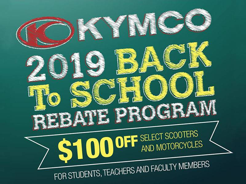 Kymco - 2019 Back To School Rebate Program