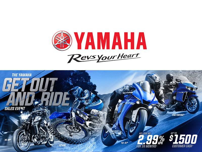 Yamaha - Get Out and Ride Sales Event - Motorcycles & Scooters
