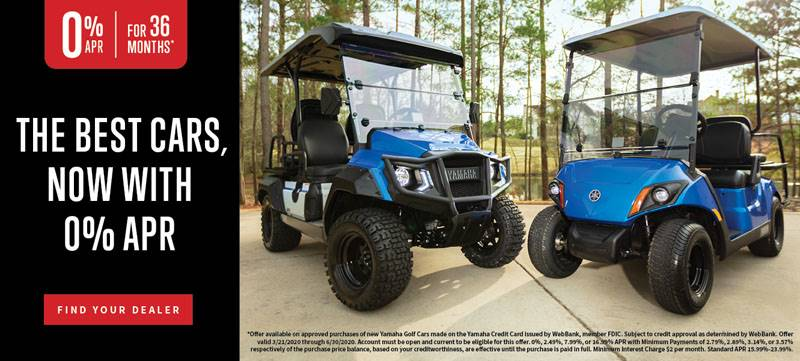 Yamaha Motor Corp., USA Yamaha Golf Cars - 0% APR for 36 Months*