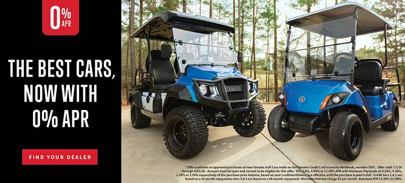 Yamaha Golf Cars - 0% APR for 36 Months