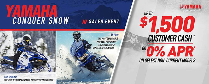 Yamaha Motor Corp., USA Yamaha Snowmobile - As Low As 0% APR for 36 months