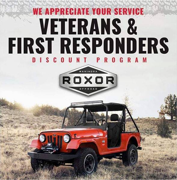 Mahindra Roxor - Veterans and First Responders Program