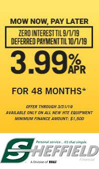 Hustler Turf Equipment - Mow Now, Pay Later - 3.99% APR for 48 Months