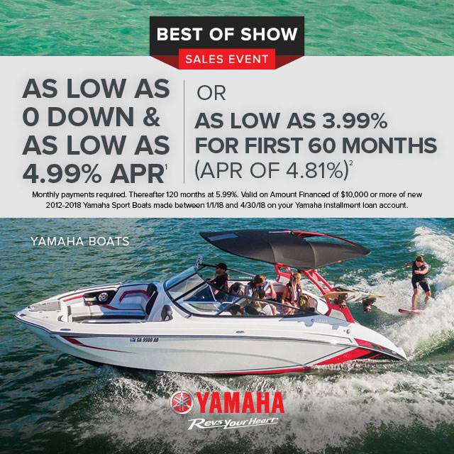 Yamaha Motor Corp., USA Yamaha Boats - Best of Show Sales Event