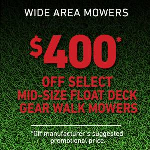 Toro - $400 USD Off Select Mid-Size Float Deck Gear Drive Mowers