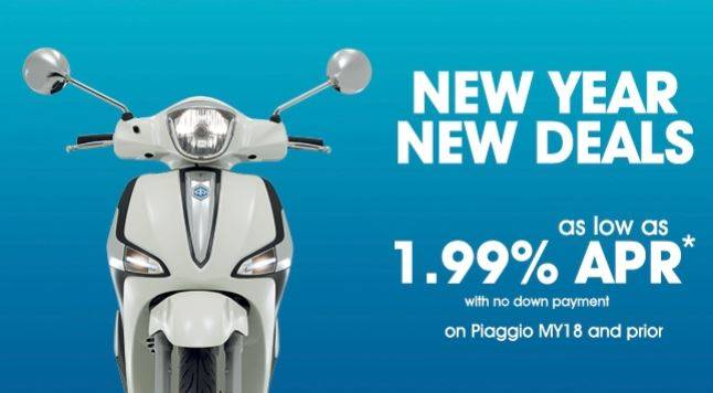 Piaggio - New Year New Deals as Low as 1.99 % APR