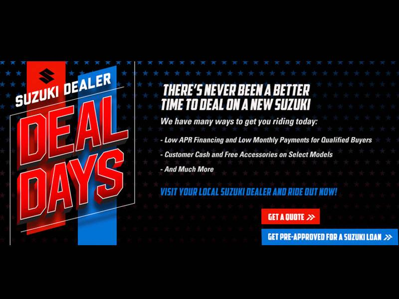 Suzuki Motor of America Inc. Suzuki - Deal Days