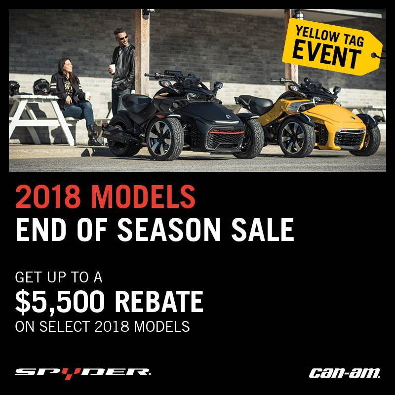 Can-Am - Yellow Tag Event -2018 Model End of Season Sale