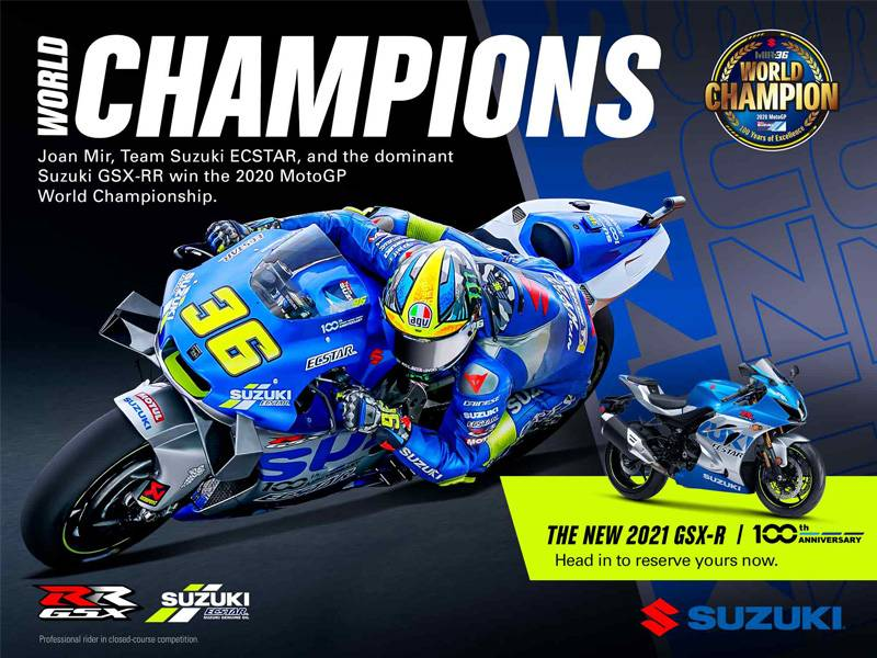 Suzuki Motor of America Inc. Suzuki - World Champion Sales Event
