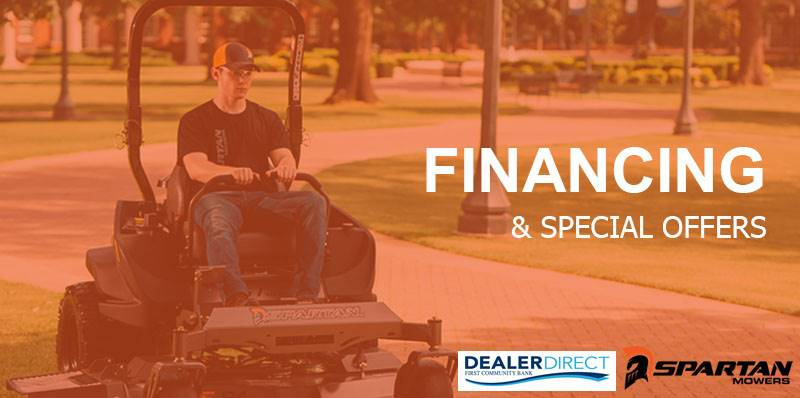 Spartan Mowers - Dealer Direct Financing (6.29% = 60 monthly payments)