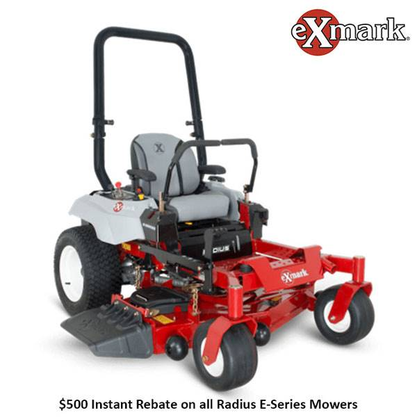 Exmark - $500 Instant Rebate on all Radius E-Series Mowers