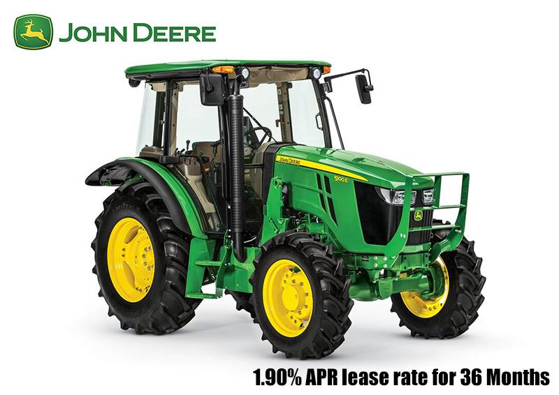 John Deere - 1.90% APR lease rate for 36 Months 5E Utility Tractors (85-100 hp)