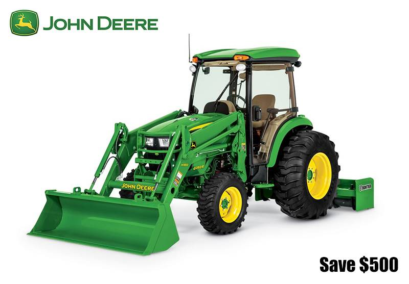 John Deere - Save $500 on 4 Series Compact Tractors