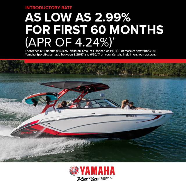 Yamaha Boats - Introductory Rate As Low As 2.99%