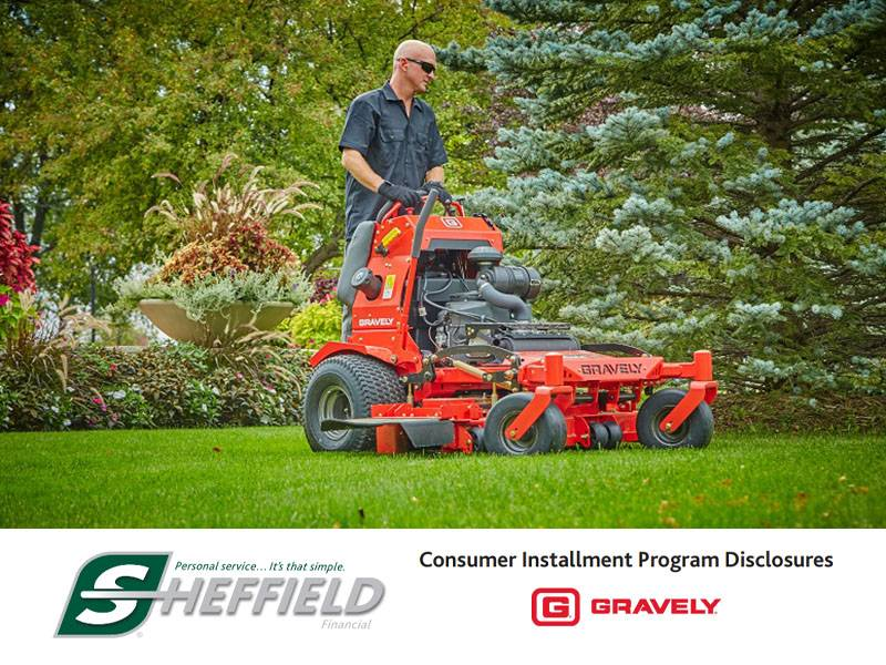 Gravely USA - Sheffield Financial -  Mow NOW Pay LATER