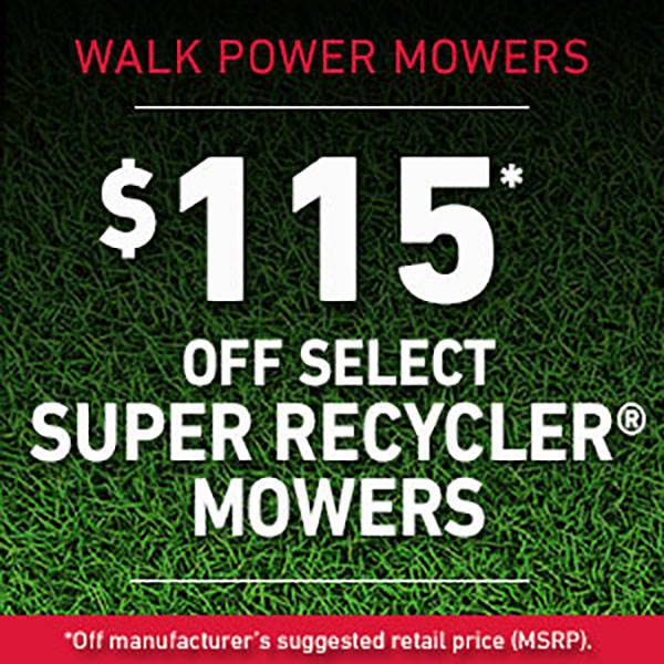 Toro - $115* Off Select Super Recycler Mowers