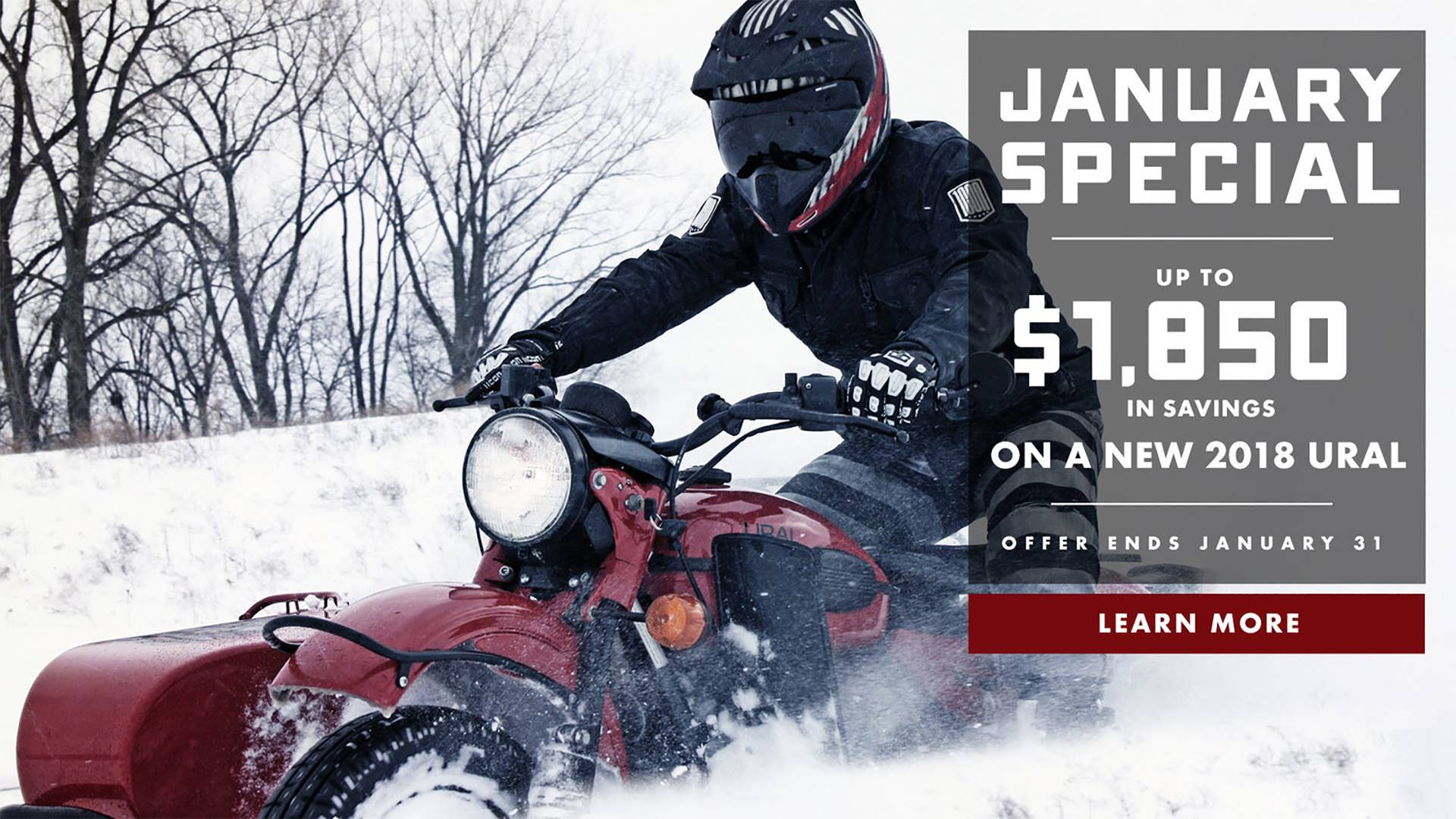 Ural Russian Motorcycles Ural Motorcycles - January Special