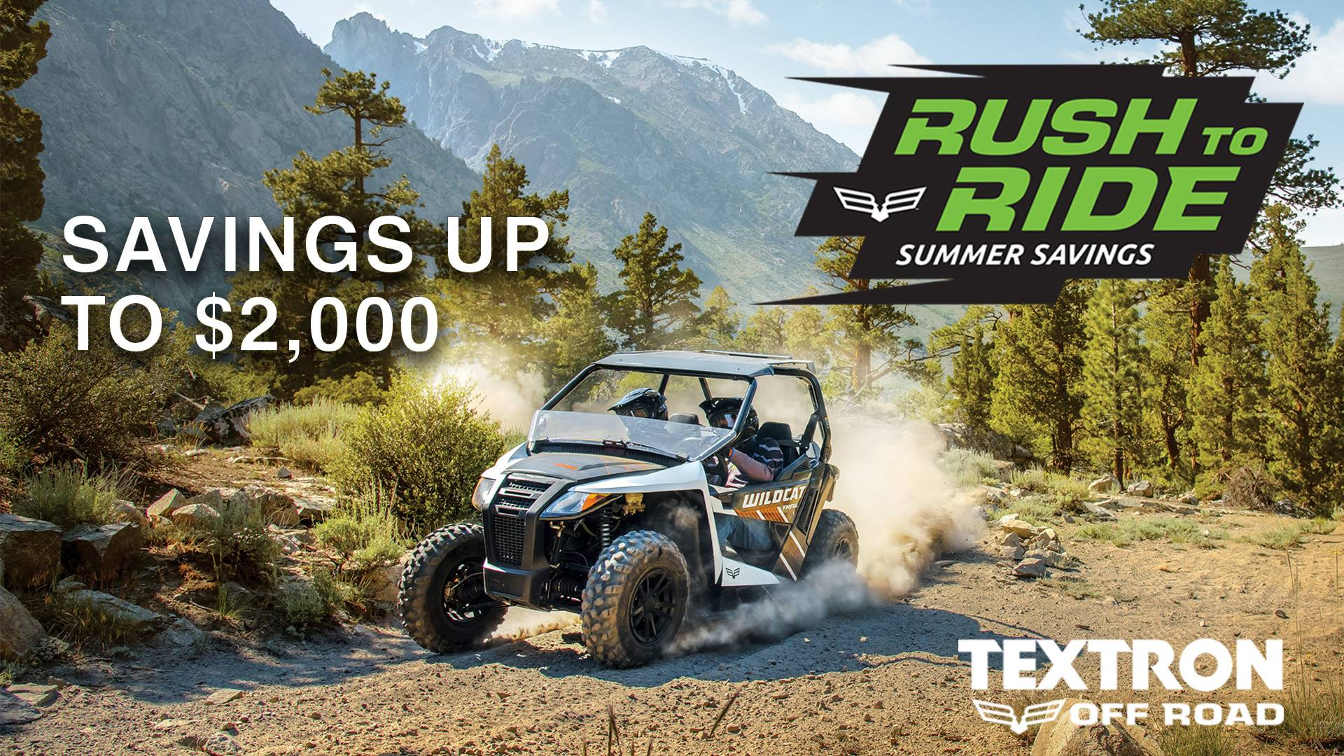 Textron Rush To Ride Sales Event