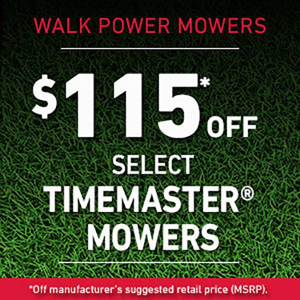 Toro - $115* Off Select TimeMaster Mowers